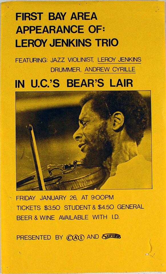 Leroy Jenkins Trio Poster
