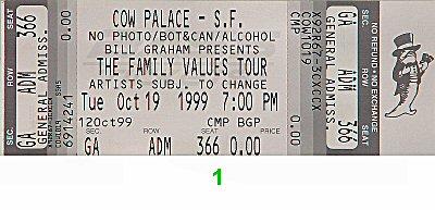 Limp Bizkit1990s Ticket