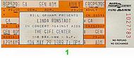 Linda Ronstadt 1980s Ticket