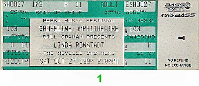 Linda Ronstadt 1990s Ticket