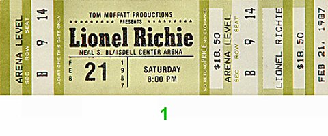 Lionel Richie1980s Ticket