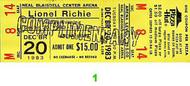 Lionel Richie 1980s Ticket