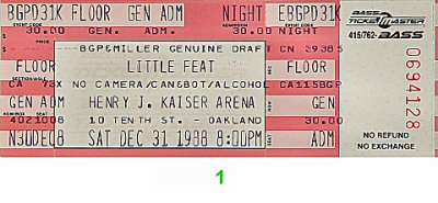 Little Feat 1980s Ticket