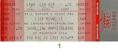 Liza Minnelli1980s Ticket