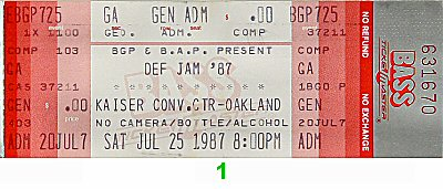 LL Cool J 1980s Ticket