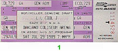 LL Cool J1980s Ticket