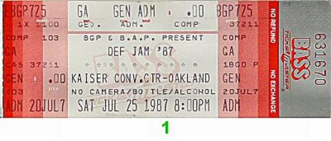 LL Cool J Vintage Ticket
