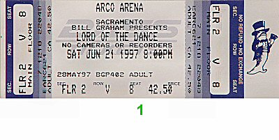 Lord of The Dance1990s Ticket