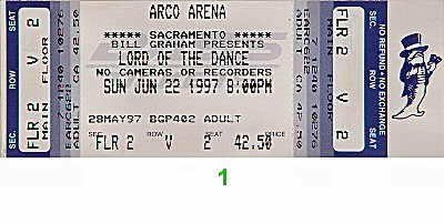 Lord of the Dance 1990s Ticket