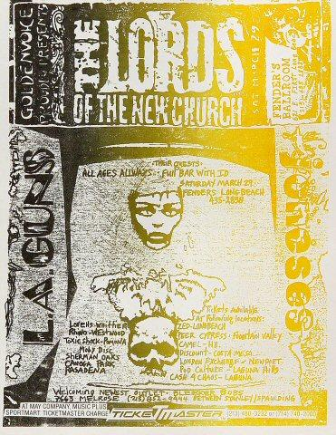 Lords of the New Church Handbill