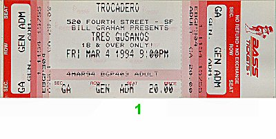 Los Tres Gusanos 1990s Ticket