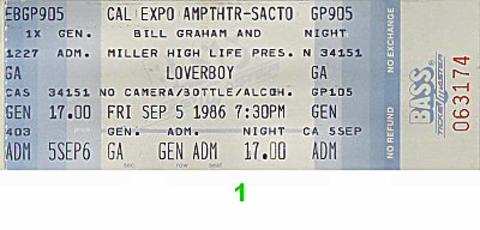 Loverboy Vintage Ticket
