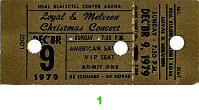 Loyal and Melveen 1970s Ticket