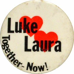 Luke and Laura Together - Now Vintage Pin