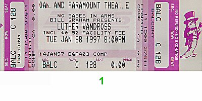 Luther Vandross1990s Ticket