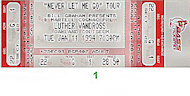 Luther Vandross Vintage Ticket