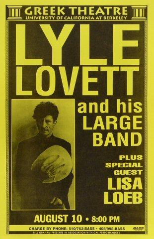 Lyle Lovett & His Large Band Poster