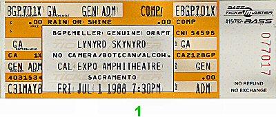Lynyrd Skynyrd1980s Ticket