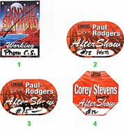 Paul Rodgers Backstage Pass