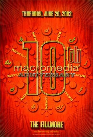 Macromedia's 10th Anniversary Poster