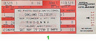 Madonna1990s Ticket