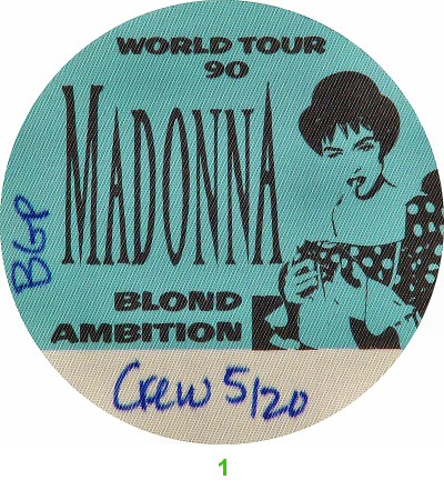 Madonna Backstage Pass