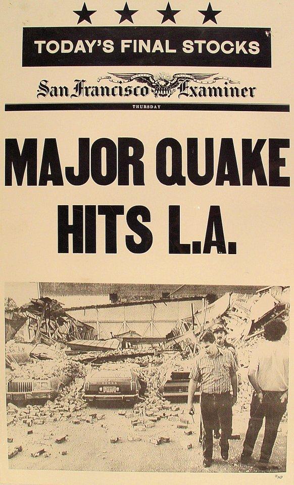 Major Quake Hits L.A. Poster