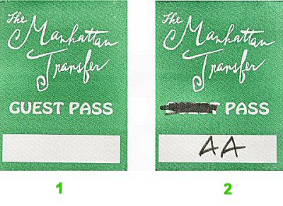 Manhattan Transfer Backstage Pass