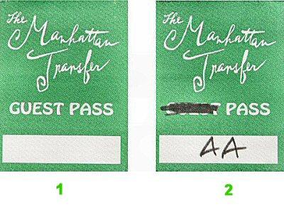 Manhattan Transfer Backstage Pass
