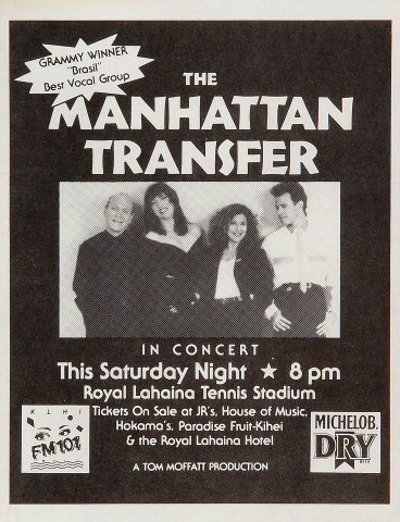 Manhattan Transfer Handbill