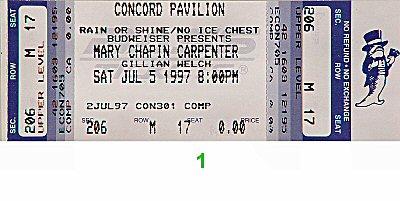 Mary Chapin Carpenter1990s Ticket