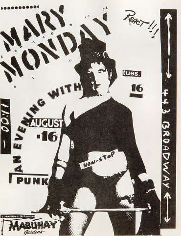 Mary MondayHandbill