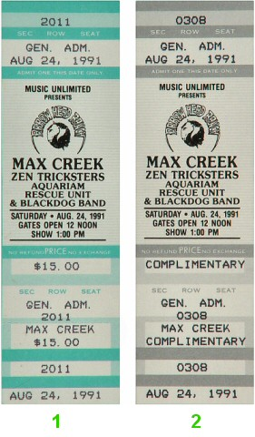 Max Creek 1990s Ticket