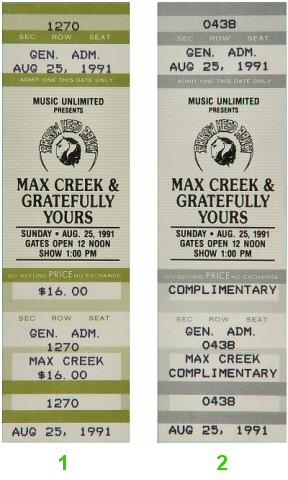 Max Creek1990s Ticket