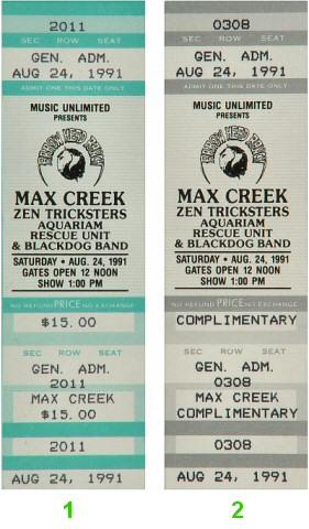 Max Creek Vintage Ticket