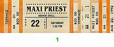 Maxi Priest 1990s Ticket