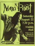 Maxi Priest Handbill