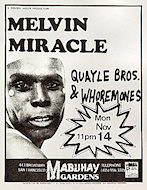 Melvin Miracle Handbill