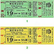 Menudo 1980s Ticket