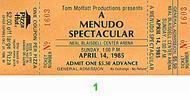 Menudo 1980s Ticket