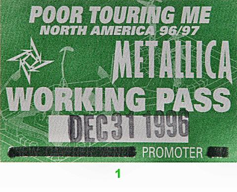 MetallicaBackstage Pass