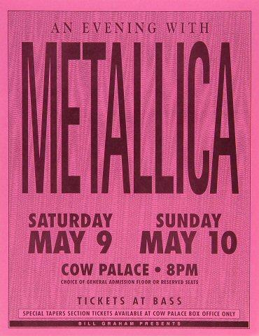 Metallica Handbill