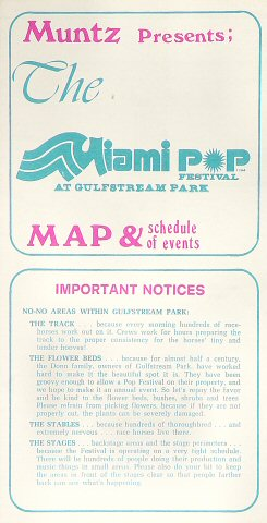 Miami Pop Festival Program