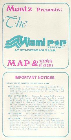 Miami Pop Festival Program