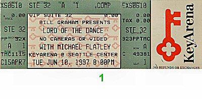 Michael Flatley1990s Ticket