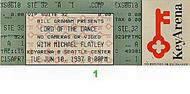 Michael Flatley 1990s Ticket
