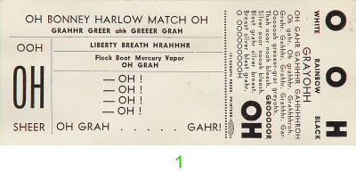 Michael McClure 1960s Ticket