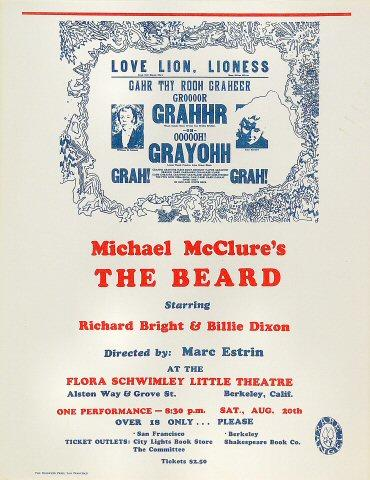 Michael McClure Handbill