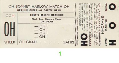 Michael McClure Vintage Ticket