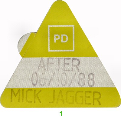 Mick Jagger Backstage Pass